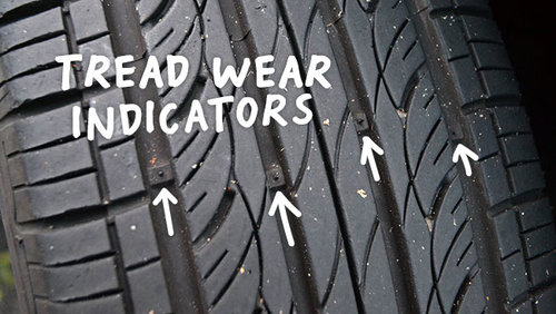 Tread Wear Indicator Bars In The Tread